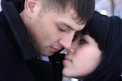 Dois amantes novos Fotografia de Stock