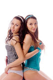 Dois amigos das raparigas foto de stock