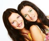 Dois amigos de menina que sorriem junto Foto de Stock