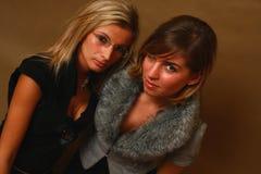 Dois amigos fêmeas novos foto de stock