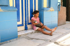 Dois amigos pequenos em Havana Imagens de Stock Royalty Free