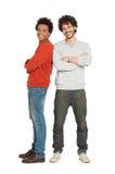 Dois amigos que sorriem junto Imagens de Stock