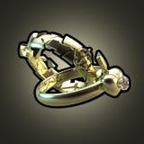 Dois anéis como uma ilustração para o divórcio Imagem de Stock Royalty Free