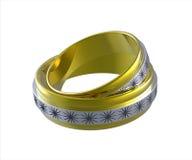 Dois anéis de casamento Fotos de Stock Royalty Free