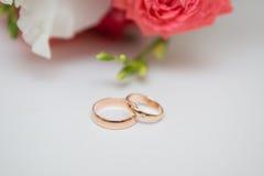 Dois anéis de casamento Foto de Stock