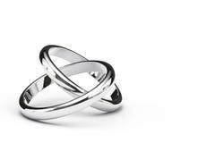 Dois anéis de cruzamento Foto de Stock Royalty Free