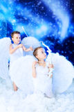 Dois anjos Fotos de Stock Royalty Free