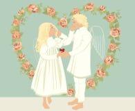 Dois anjos Foto de Stock