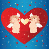 Dois anjos. Imagem de Stock Royalty Free