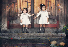 Dois anjos Foto de Stock Royalty Free