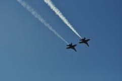 Dois anjos azuis Foto de Stock Royalty Free