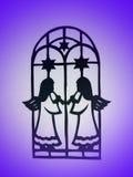 Dois anjos. Corte de papel Imagens de Stock