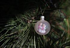 Dois anjos do Natal Fotos de Stock Royalty Free