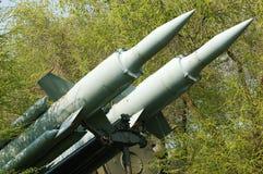 Dois apontaram foguetes imagens de stock royalty free
