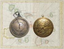 Dois Astrolabes Imagens de Stock Royalty Free
