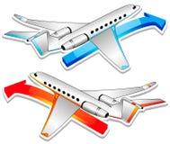 Dois aviões. Ilustração do vetor Ilustração Stock