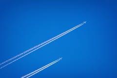 Dois aviões no céu Imagem de Stock Royalty Free