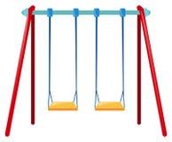 Dois balanços na barra azul ilustração do vetor