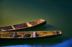 Dois barcos fotografia de stock
