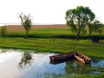 Dois barcos de madeira Fotografia de Stock