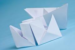 Dois barcos de papel Imagem de Stock