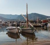 Dois barcos no porto Imagens de Stock
