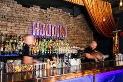 Dois barman que trabalham rapidamente Fotos de Stock Royalty Free