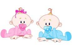 Dois bebês Imagem de Stock