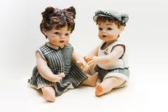 Dois bebês Foto de Stock Royalty Free