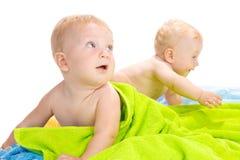 Dois bebês Imagens de Stock