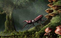 Dois besouros de veado ilustração stock