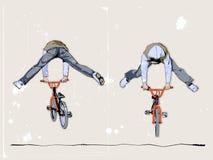 Dois bicyclists Ilustração Royalty Free