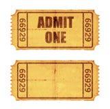 Dois bilhetes Fotos de Stock