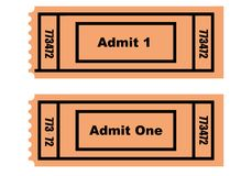 Dois bilhetes Imagem de Stock Royalty Free
