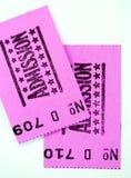 Dois bilhetes da admissão Fotografia de Stock