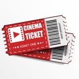 Dois bilhetes do vetor do cinema ilustração do vetor
