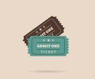 Dois bilhetes retros Fotografia de Stock Royalty Free