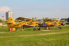 Dois biplano An-2 Fotografia de Stock