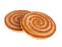 Dois biscoitos no fundo branco Fotografia de Stock Royalty Free