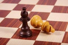 Dois bishops na placa de xadrez Imagens de Stock