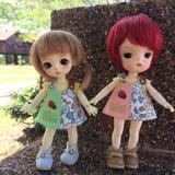 Dois BJD adoráveis (boneca da junção de bola) fotos de stock