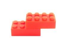 Dois blocos vermelhos imagens de stock