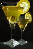 Dois bocals de martini Foto de Stock Royalty Free
