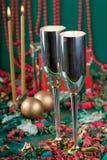 Dois bocals e presentes de feriado Imagem de Stock