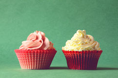Dois bolos Foto de Stock Royalty Free