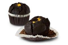Dois bolos de chocolate Foto de Stock Royalty Free