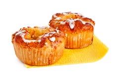 Dois bolos de maçã Imagem de Stock Royalty Free