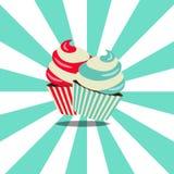 Dois bolos saborosos Imagens de Stock
