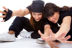 Dois breakdancers bonitos das meninas Imagem de Stock Royalty Free