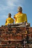 Dois Buddhas Foto de Stock